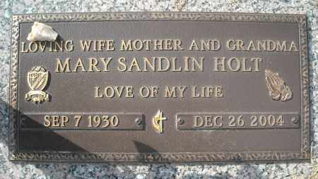 SANDLIN HOLT (CLOSE UP), MARY - Faulkner County, Arkansas | MARY SANDLIN HOLT (CLOSE UP) - Arkansas Gravestone Photos