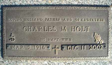 HOLT (VETERAN WWII), CHARLES M - Faulkner County, Arkansas   CHARLES M HOLT (VETERAN WWII) - Arkansas Gravestone Photos
