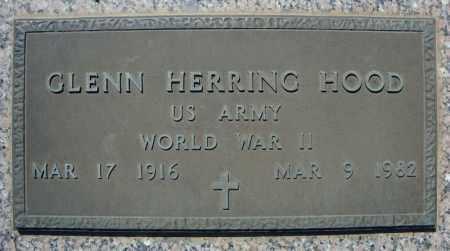 HOOD (VETERAN WWII), GLENN HERRING - Faulkner County, Arkansas | GLENN HERRING HOOD (VETERAN WWII) - Arkansas Gravestone Photos