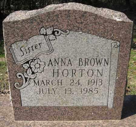 HORTON, ANNA - Faulkner County, Arkansas | ANNA HORTON - Arkansas Gravestone Photos