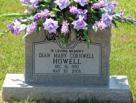 CORNWELL HOWELL, DIAN MARY - Faulkner County, Arkansas | DIAN MARY CORNWELL HOWELL - Arkansas Gravestone Photos