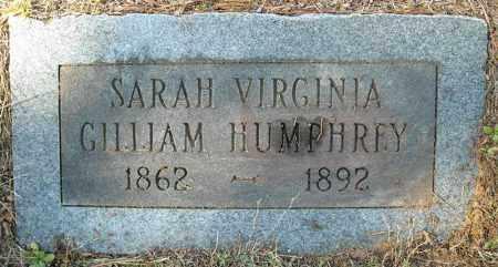 HUMPHREY, SARAH VIRGINIA - Faulkner County, Arkansas   SARAH VIRGINIA HUMPHREY - Arkansas Gravestone Photos