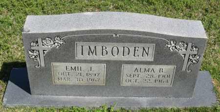 IMBODEN, EMIL J. - Faulkner County, Arkansas | EMIL J. IMBODEN - Arkansas Gravestone Photos