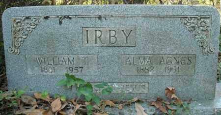 IRBY, WILLIAM T. - Faulkner County, Arkansas | WILLIAM T. IRBY - Arkansas Gravestone Photos