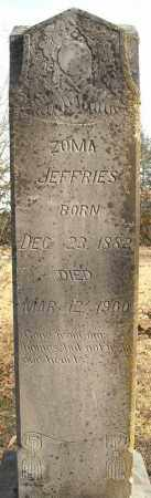JEFFRIES, ZOMA - Faulkner County, Arkansas | ZOMA JEFFRIES - Arkansas Gravestone Photos