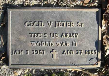 JETER, SR. (VETERAN WWII), CECIL V. - Faulkner County, Arkansas   CECIL V. JETER, SR. (VETERAN WWII) - Arkansas Gravestone Photos