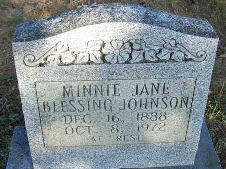 BLESSING JOHNSON, MINNIE JANE - Faulkner County, Arkansas | MINNIE JANE BLESSING JOHNSON - Arkansas Gravestone Photos