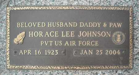 JOHNSON (VETERAN), HORACE LEE (CLOSE UP) - Faulkner County, Arkansas | HORACE LEE (CLOSE UP) JOHNSON (VETERAN) - Arkansas Gravestone Photos
