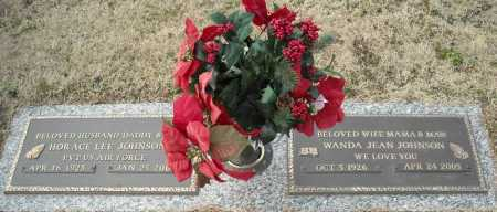 JOHNSON (VETERAN), HORACE LEE - Faulkner County, Arkansas | HORACE LEE JOHNSON (VETERAN) - Arkansas Gravestone Photos