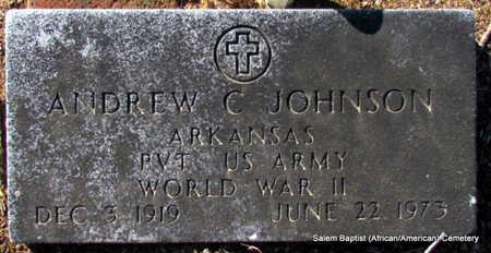 JOHNSON (VETERAN WWII), ANDREW C - Faulkner County, Arkansas | ANDREW C JOHNSON (VETERAN WWII) - Arkansas Gravestone Photos