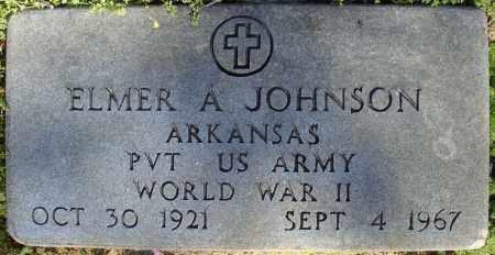 JOHNSON (VETERAN WWII), ELMER A - Faulkner County, Arkansas | ELMER A JOHNSON (VETERAN WWII) - Arkansas Gravestone Photos
