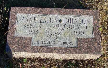 JOHNSON, ZANE ESTON - Faulkner County, Arkansas | ZANE ESTON JOHNSON - Arkansas Gravestone Photos