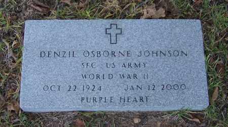 JOHNSON (VETERAN WWII), DENZIL OSBORNE - Faulkner County, Arkansas | DENZIL OSBORNE JOHNSON (VETERAN WWII) - Arkansas Gravestone Photos