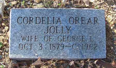 JOLLY, CORDELIA OREAR - Faulkner County, Arkansas   CORDELIA OREAR JOLLY - Arkansas Gravestone Photos