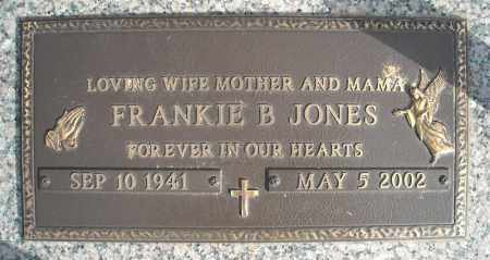 JONES, FRANKIE B. - Faulkner County, Arkansas | FRANKIE B. JONES - Arkansas Gravestone Photos