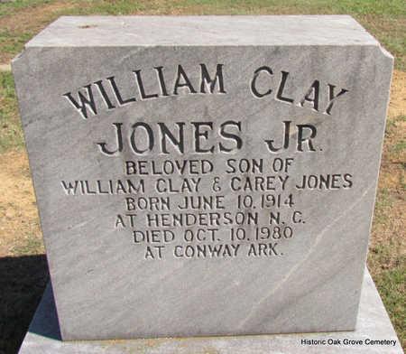 JONES, JR., WILLIAM CLAY - Faulkner County, Arkansas | WILLIAM CLAY JONES, JR. - Arkansas Gravestone Photos