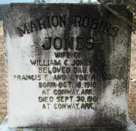 ROBINS JONES, MARION - Faulkner County, Arkansas | MARION ROBINS JONES - Arkansas Gravestone Photos