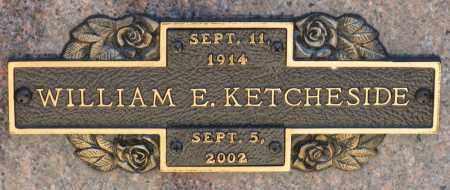 KETCHESIDE, WILLIAM E. - Faulkner County, Arkansas | WILLIAM E. KETCHESIDE - Arkansas Gravestone Photos