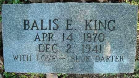 KING, BALIS E. - Faulkner County, Arkansas   BALIS E. KING - Arkansas Gravestone Photos