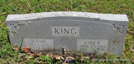 KING, JENNIE - Faulkner County, Arkansas | JENNIE KING - Arkansas Gravestone Photos