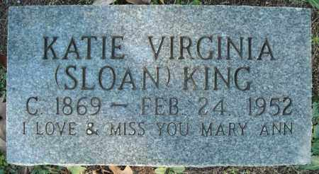 SLOAN KING, KATIE VIRGINIA - Faulkner County, Arkansas | KATIE VIRGINIA SLOAN KING - Arkansas Gravestone Photos