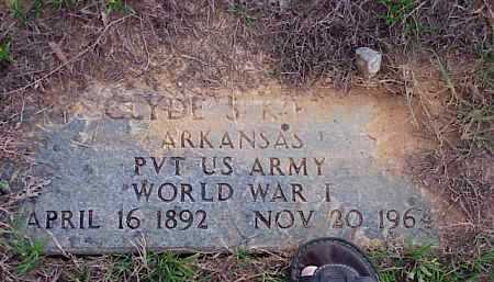 KIRBY (VETERAN WWI), CLYDE S - Faulkner County, Arkansas   CLYDE S KIRBY (VETERAN WWI) - Arkansas Gravestone Photos