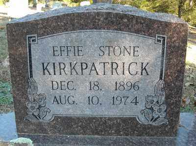 KIRKPATRICK, EFFIE - Faulkner County, Arkansas   EFFIE KIRKPATRICK - Arkansas Gravestone Photos