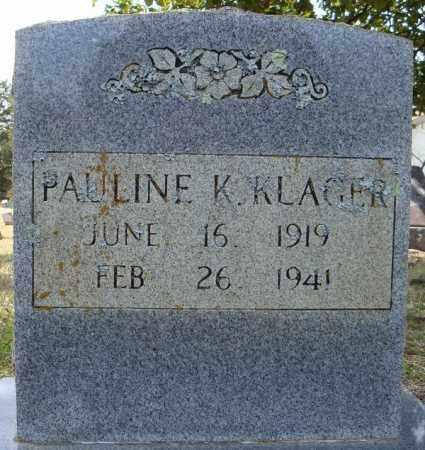 KLAGER, PAULINE - Faulkner County, Arkansas | PAULINE KLAGER - Arkansas Gravestone Photos