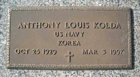 KOLDA (VETERAN KOR), ANTHONY LOUIS - Faulkner County, Arkansas | ANTHONY LOUIS KOLDA (VETERAN KOR) - Arkansas Gravestone Photos