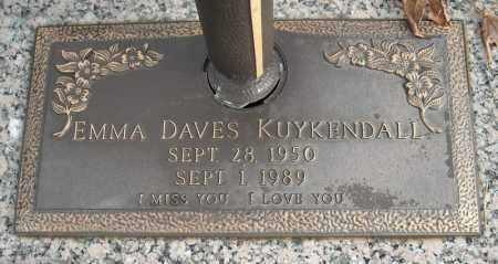 DAVES KUYKENDALL, EMMA - Faulkner County, Arkansas | EMMA DAVES KUYKENDALL - Arkansas Gravestone Photos