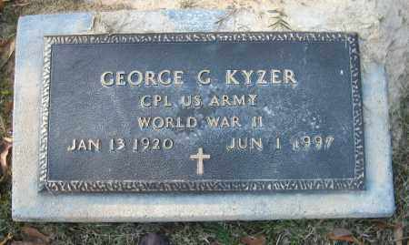 KYZER  (VETERAN WWII), GEORGE G - Faulkner County, Arkansas | GEORGE G KYZER  (VETERAN WWII) - Arkansas Gravestone Photos