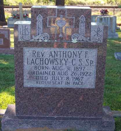 LACHOWSKY REV C S SP, ANTHONY F - Faulkner County, Arkansas | ANTHONY F LACHOWSKY REV C S SP - Arkansas Gravestone Photos