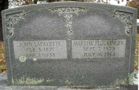 FLUCKINGER, MARTHA - Faulkner County, Arkansas   MARTHA FLUCKINGER - Arkansas Gravestone Photos