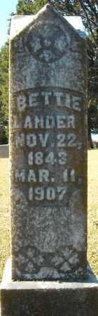 LANDER, BETTIE - Faulkner County, Arkansas | BETTIE LANDER - Arkansas Gravestone Photos