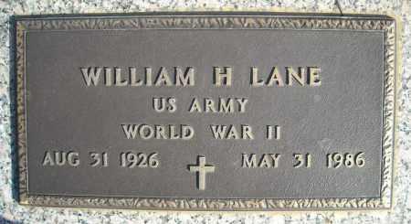 LANE (VETERAN WWII), WILLIAM H - Faulkner County, Arkansas   WILLIAM H LANE (VETERAN WWII) - Arkansas Gravestone Photos