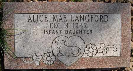 LANGFORD, ALICE MAE - Faulkner County, Arkansas | ALICE MAE LANGFORD - Arkansas Gravestone Photos