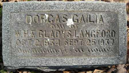 LANGFORD, DORCAS GAILIA - Faulkner County, Arkansas   DORCAS GAILIA LANGFORD - Arkansas Gravestone Photos