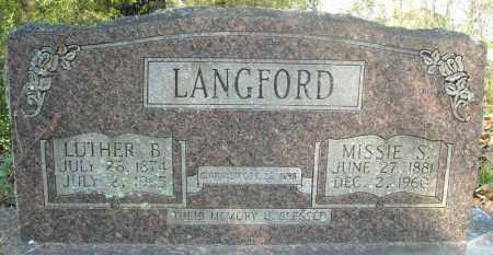 LANGFORD, MISSIE S. - Faulkner County, Arkansas | MISSIE S. LANGFORD - Arkansas Gravestone Photos