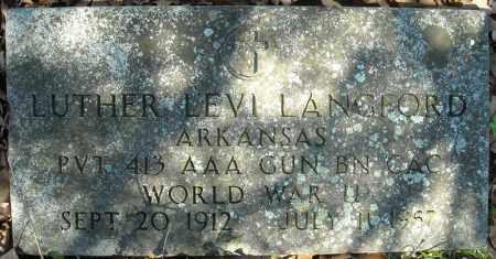 LANGFORD (VETERAN WWII), LUTHER LEVI - Faulkner County, Arkansas | LUTHER LEVI LANGFORD (VETERAN WWII) - Arkansas Gravestone Photos