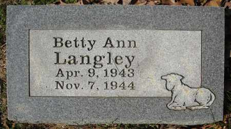 LANGLEY, BETTY ANN - Faulkner County, Arkansas | BETTY ANN LANGLEY - Arkansas Gravestone Photos