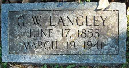 LANGLEY, G.W. - Faulkner County, Arkansas | G.W. LANGLEY - Arkansas Gravestone Photos