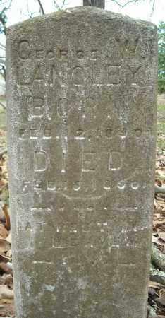 LANGLEY, GEORGE W. - Faulkner County, Arkansas | GEORGE W. LANGLEY - Arkansas Gravestone Photos