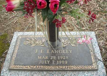 LANGLEY, J.E. - Faulkner County, Arkansas | J.E. LANGLEY - Arkansas Gravestone Photos