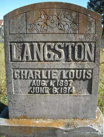 LANGSTON, CHARLIE LOUIS - Faulkner County, Arkansas | CHARLIE LOUIS LANGSTON - Arkansas Gravestone Photos