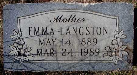 LANGSTON, EMMA - Faulkner County, Arkansas | EMMA LANGSTON - Arkansas Gravestone Photos