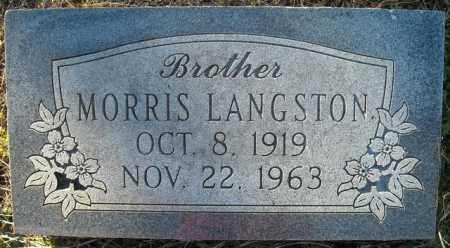 LANGSTON, MORRIS - Faulkner County, Arkansas | MORRIS LANGSTON - Arkansas Gravestone Photos