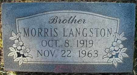 LANGSTON, MORRIS - Faulkner County, Arkansas   MORRIS LANGSTON - Arkansas Gravestone Photos