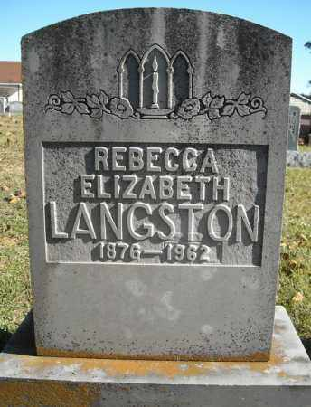 LANGSTON, REBECCA ELIZABETH - Faulkner County, Arkansas | REBECCA ELIZABETH LANGSTON - Arkansas Gravestone Photos