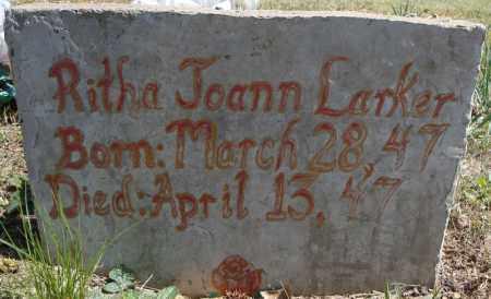 LARKER, RITHA JOANN - Faulkner County, Arkansas | RITHA JOANN LARKER - Arkansas Gravestone Photos