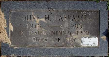 LARRABEE, OLIVE M. - Faulkner County, Arkansas | OLIVE M. LARRABEE - Arkansas Gravestone Photos
